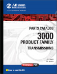 Allison Transmission Parts Catalog 4000 product families каталог запчастей