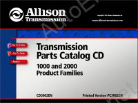 Allison Transmission Parts Catalog 5000 and 6000 product families каталог запчастей Аллисон
