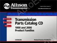 Allison Transmission Parts Catalog 1000 and 2000 product families каталог запчастей Аллисон